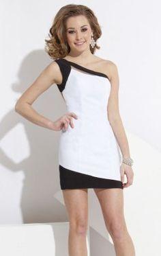 One Shoulder Cocktail Dress by Rachel Allan Princess 2796