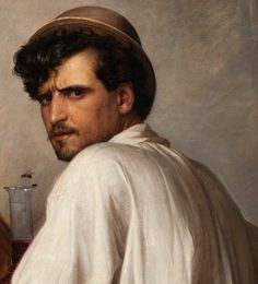 In a Roman Osteria (detail), Oil on canvas by Carl Bloch. Call Of Cthulhu, Beauty In Art, Male Beauty, Classical Realism, Renaissance Paintings, Horse Drawings, Oil Portrait, Boy Art, Fantastic Art