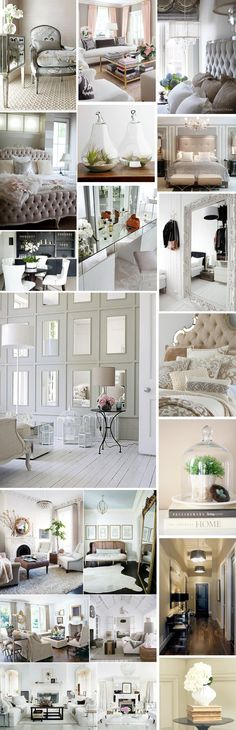 Mood board Interior inspiration #bycelina  Proof that a neutral palette needn't be boring.