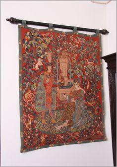 Ancienne Tenture Brodee De Birmanie Kalaga 153 Cm X 55 Cm Ebay