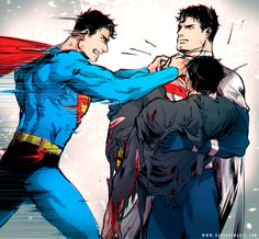 """I'll kill you, you monster!!!""""Then there will be no difference between us, Clark."""