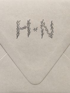 Branches Monogram Custom Stamp