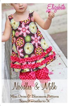 NEW Noodles and Milk Sewing Pattern Tutorial PDF by noodlesandmilk, $8.50