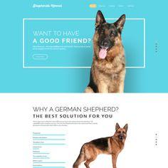 Dog Bootstrap Website Template