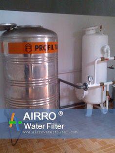 Pemasangan Filter Air Industri di Karawaci  Berikut contoh instalasi filter air industri AIRRO kapasitas besar di daerah Karawaci Tangerang, Pemasangan filter air industri ini untuk keperluan air bersih.  Produk filter air industri AIRRO yang dipasang ini mempunyai kemampuan kapasitas 6 m3/jam. Ukuran pipa in-outnya 1.5 inchi. Letak instalasi pemasangan filter air ini dilakukan setelah pompa transfer.  ilustrasinya pompa sumber - bak penampungan - pompa transfer - filter air - penampungan a