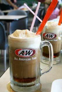 A & W root beer float -  the good 'ole days