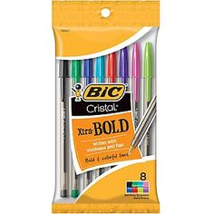 BIC Cristal Xtra Bold Fashion 8 Count