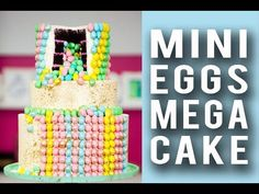 Watch me cake a Mini Egg MEGA Cake on my YouTube channel - fun to make with your whole family for Easter!