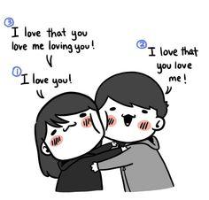 Love Cartoon Couple, Cute Couple Comics, Couples Comics, Cute Couple Art, Funny Couples, Cute Love Memes, Cute Funny Quotes, Funny Love, Simple Love Quotes