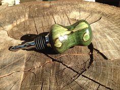 Spalted dyed maple burl bottle stopper Maple Burl, Bourbon Barrel, Bottle Stoppers, Pens, Handmade, Hand Made, Handarbeit