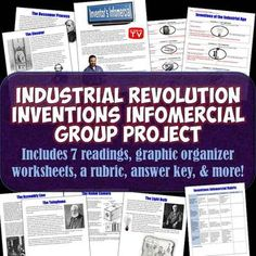 This is a fantastic cooperative learning project on major inventions and inventors of the Industrial Revolution that will have your students engaged, having fun, and learning!