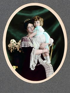 Empress Alexandra Feodorovna of Russia with her baby son Grand Duke Alexei Nicholaievich, Original picture