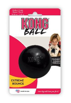 Kong Extreme Black Small KONG Extreme represents the most durable version of our original KONG toy. The ultra-strong, black rubber compound is recommended for power chewers.