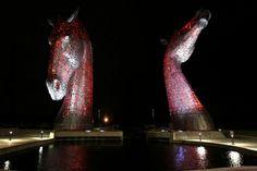 19. Los kelpies, ubicada en Falkirk, Escocia