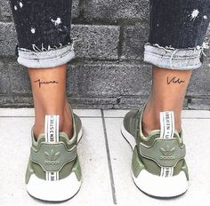 Search inspiration for a Minimal tattoo. Mini Tattoos, Trendy Tattoos, Cute Tattoos, Beautiful Tattoos, Leg Tattoos, Body Art Tattoos, Small Tattoos, Inner Ankle Tattoos, Back Of Ankle Tattoo