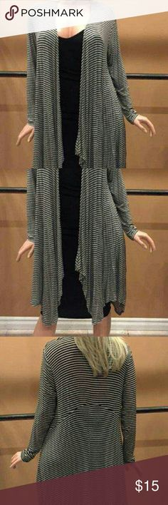 Brand new plus size cardigan Thin striped long uneven knit cardigan cuky Sweaters Cardigans