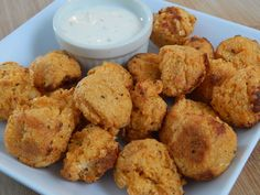 Buffalo cauliflower tots Spicy and a great little appetizer addition to your feast