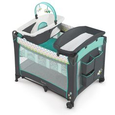 The playard has a removable full bassinet. Complete with a full bassinet and canopy, this Deluxe Havenwood baby playard will make a wonderful addition to your baby s nursery. It also includes three different toys to keep your baby entertained. Pack And Play, Baby Bassinet, Bedside Bassinet, Bassinet Cover, Baby Playpen, Baby Needs, Baby Safe, Bugaboo, Baby Gear