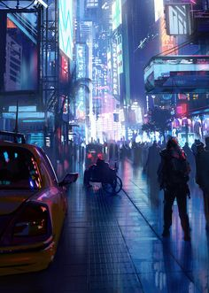 "Heavily inspired from Stephan Martiniere's ""Brazyl,"" as well as Blade Runner Cyberpunk Aesthetic, Cyberpunk City, City Aesthetic, Futuristic City, Fantasy World, Fantasy Art, Pen & Paper, Sci Fi City, Ex Machina"