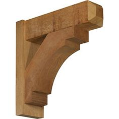 Rustic Wood Outlookers Merced-Craftsman-Style-Smooth-Solid-Wood-Outlooker