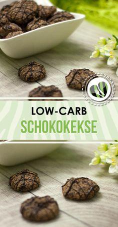 Die Schokokekse sind einfach, lecker und low-carb. Low Carb Cookies, Protein Cookies, Low Carb Deserts, Low Carb Sweets, Low Carb Protein, Low Carb Keto, High Protein, Coconut Recipes, Sweets Recipes