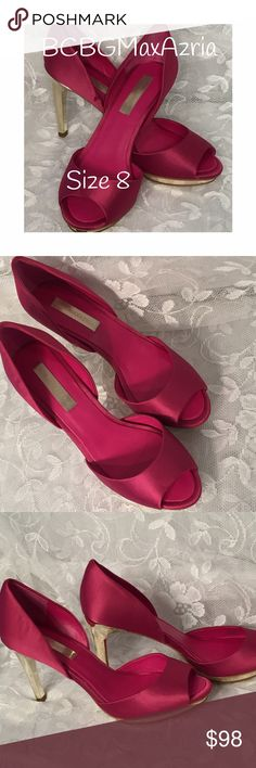 BCBGMaxAzria shoes. Stunningly gorgeous! EUC! BCBGMaxAzria shoes. Only worn once, mostly on carpet. Even the soles do not show signs of wear!!!  Perfect or Easter, Prom or any other special occasion! BCBGMaxAzria Shoes Heels
