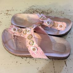 Pink Sandals Pink sandals, never worn, only tried in, no box, pink, size 11. Shoes Sandals