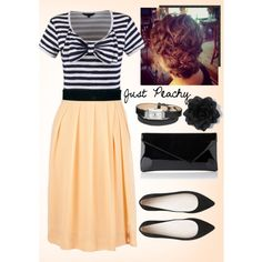 A fashion look from August 2013 featuring pleated skirt, pointed-toe flats and hand bags. Browse and shop related looks.