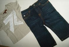 NWT Baby Boys Seven 7 For All Mankind 2pc Set Outfit Shirt Jeans 6-9m GIFT #SevenForAllMankind