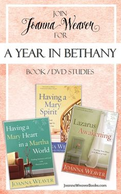 "Looking for next year's Bible study? I might have a few ideas for you ;-) ""Spend Your Bible Study Year in Bethany!"" http://joannaweaverbooks.com/2016/05/11/spend-your-bible-study-year-in-bethany/"