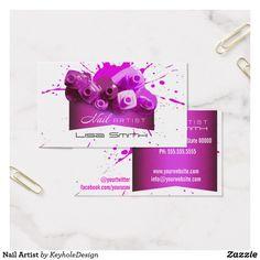 Nail Artist Business Card
