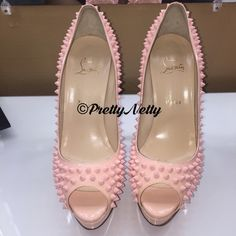 Christian Louboutin Lady Peep Spiked 150 sz 41 BNIB with dustbag and heel taps. Never worn. EXTREMELY RARE FIND. Soft baby pink color, feminine, and perfect for Spring 2016! NO TRADES, NO lowball offers, however all fair offers will be accepted. Please see my other items. Additional photos available upon request. I look forward to answering any questions you may have. Thank you for viewing my closet.  IM ALSO ON ♏️ercari (lower prices no seller fee) Christian Louboutin Shoes Heels