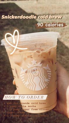 Sugar Free Starbucks Drinks, Low Calorie Starbucks Drinks, Starbucks Secret Menu Drinks, Starbucks Coffee, Starbucks Food, Coffee Drink Recipes, Coffee Drinks, Coffee Coffee, How To Order Starbucks