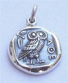 My new fascination= Greek Jewelry. Maybe a little too college sorority, but still interesting. The wise owl usually depicted with Athena the godess of wisdom. I will wear this, plus I love birds!!