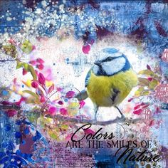 It's a NIFTY Saturday! Create some winter art! Winter Art, Nifty, Digital Scrapbooking, Pink White, Layout, Purple, Create, Nature, Painting