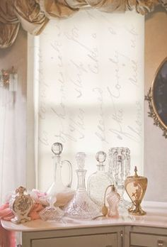 I can totally picture these crystal bottles on my vanity table !!!