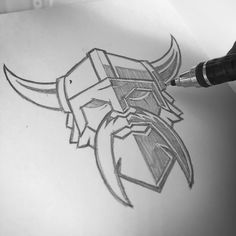 """Viking icon concept. #clientwork #armory #logo #brand #sweyda #pencil #sketch"""