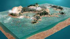 A piece of island by Posticks , via Behance
