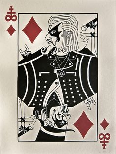 King Diamond. (Art by Smo, a NYC based animator who has worked on Superjail, Metalocalypse, and China, IL at Titmouse NYC)