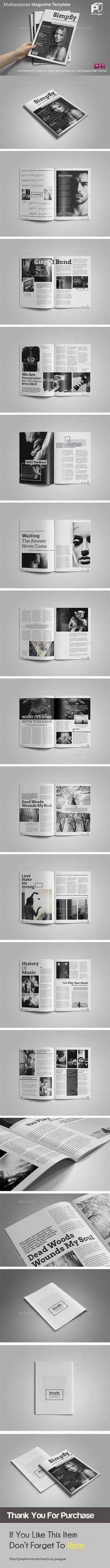 Black & White Magazine Template #design Download: http://graphicriver.net/item/black-white-magazine/11772881?ref=ksioks