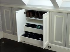 Lovely Attic storage drawers,Attic bathroom code and Keep attic bedroom cool. Loft Storage, Home, Eaves Storage, Bedroom Storage, Storage Spaces, Closet Storage, Storage, Simple Closet, Attic Lighting