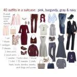 8 week capsule of pink, navy, burgundy & gray