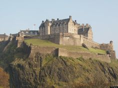 Illustrious British Royal Home ~ Edinburgh Castle ~ One of the most famous silhouettes in the world, Edinburgh Castle has been a royal residence and military stronghold for hundreds of years
