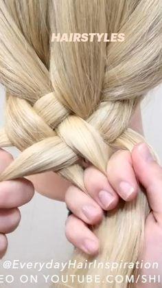Easy Hairstyles For Long Hair, Cute Hairstyles, Frozen Hair, Cool Braids, Hair Care, Hair Makeup, Long Hair Styles, Nails, Hair