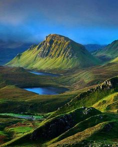 The beautiful view of Scotland