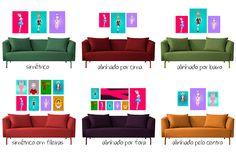 Como pendurar quadros na parede, dicas e truques para você não errar na composição! - dcoracao.com - blog de decoração