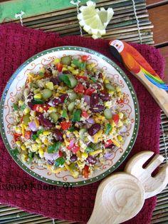 Μεξικάνικη σαλάτα με κινόα • sundayspoon Salad Bar, Cobb Salad, Pasta Salad, Salads, Food And Drink, Vegan, Vegetables, Ethnic Recipes, Crab Pasta Salad