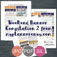 Free Printable Weekend Banner Compilation 2 from myplannerenvy.com