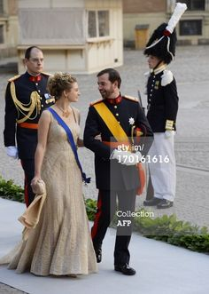 News Photo: Crown Prince Guillaume of Luxembourg and Princess Stephanie of Belgium.