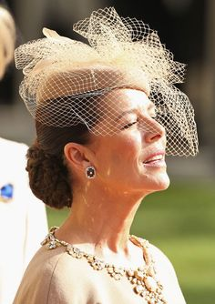 Luxembourg Wedding: The Princess of Hanover and Monaco...Posted on October 20, 2012 by HatQueen.....Princess Caroline of Hanover and Monaco.